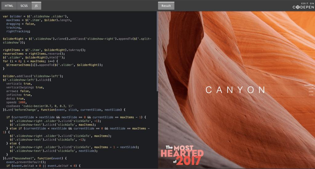 Split Screen Web Design 26