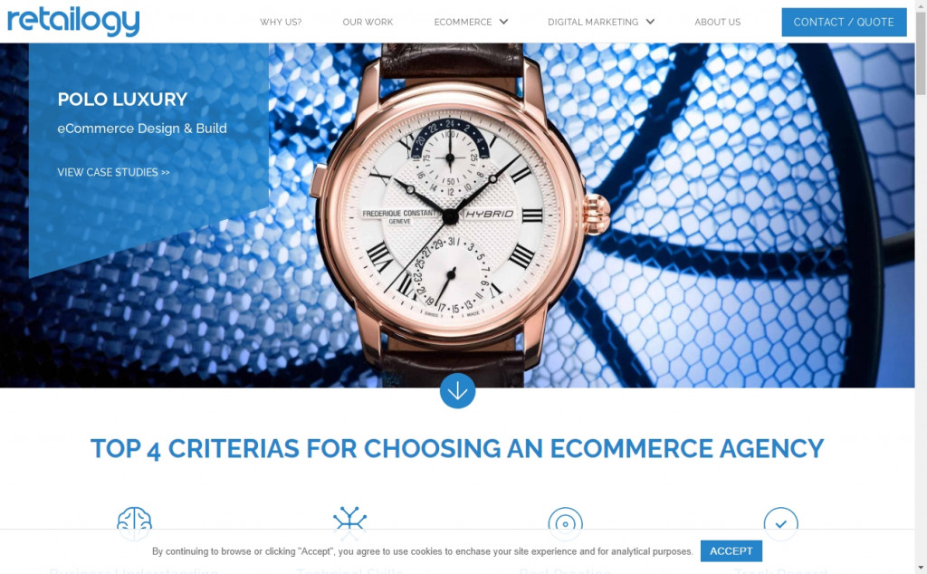 Wonderful Blue and Gold Web Designs for Inspiration 18