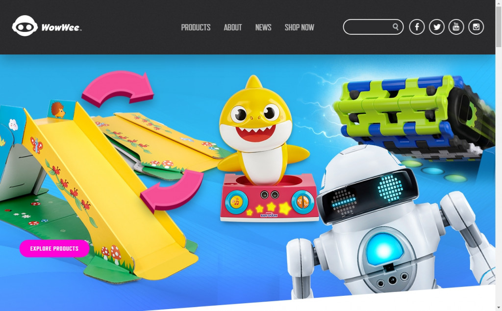 Blue and Red Color Website Design Inspirations 27