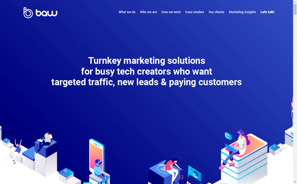 The Best Indigo Websites with Great Color Strategies 28