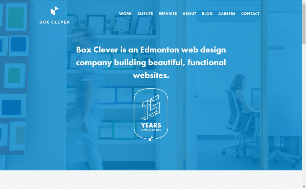 White and Blue Website Design Inspirations 30