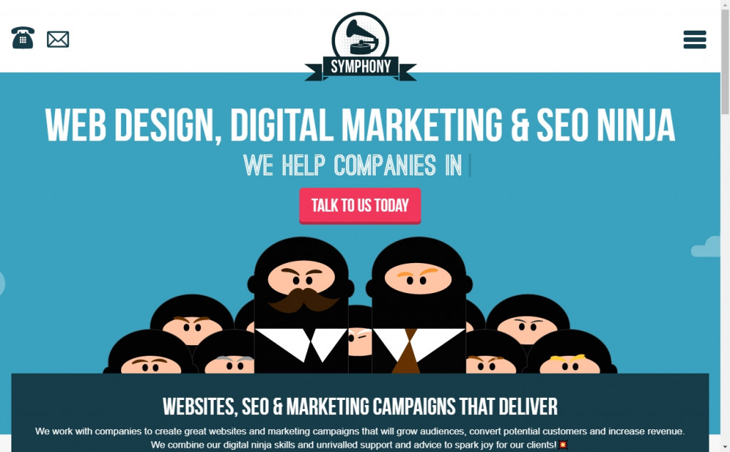 Blue and Red Color Website Design Inspirations 18