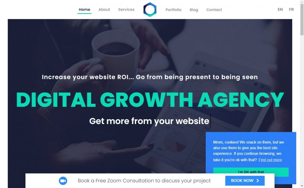 The Best Indigo Websites with Great Color Strategies 39