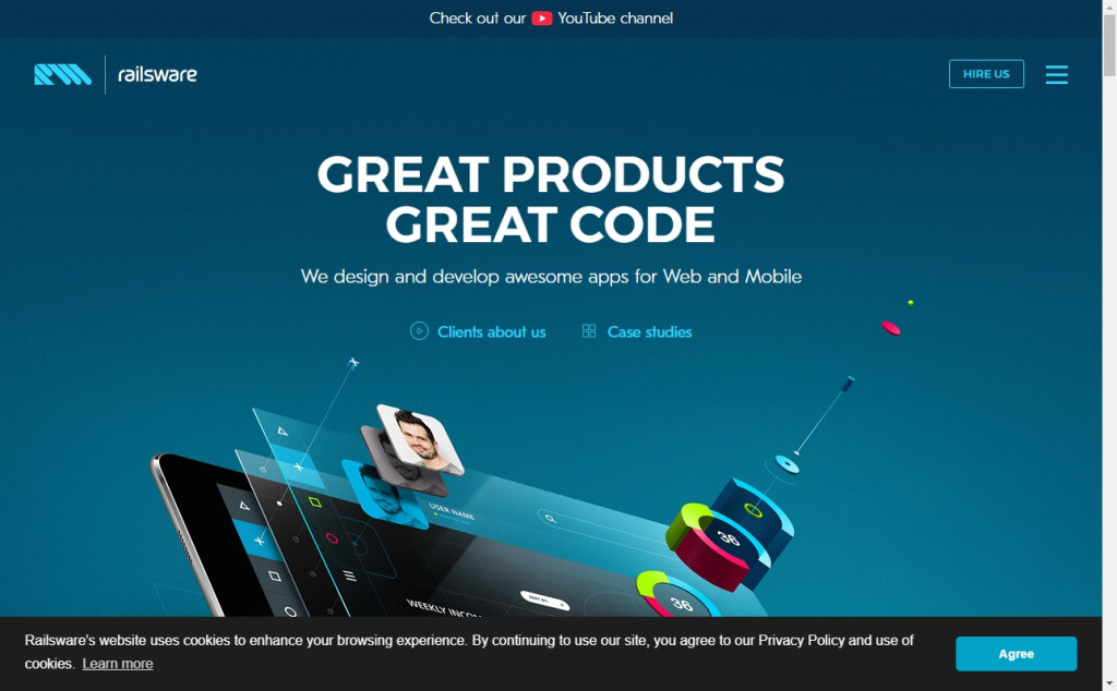 Navy Blue Color Web Design Inspirations 21