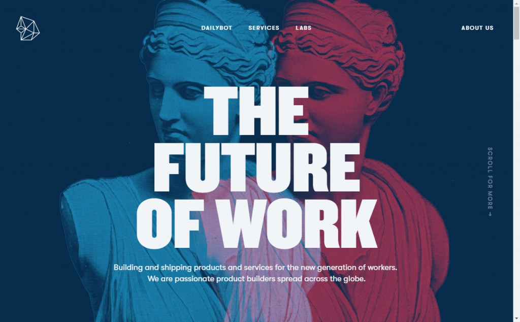 Blue and Red Color Website Design Inspirations 21
