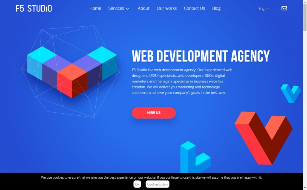 The Best Indigo Websites with Great Color Strategies 21