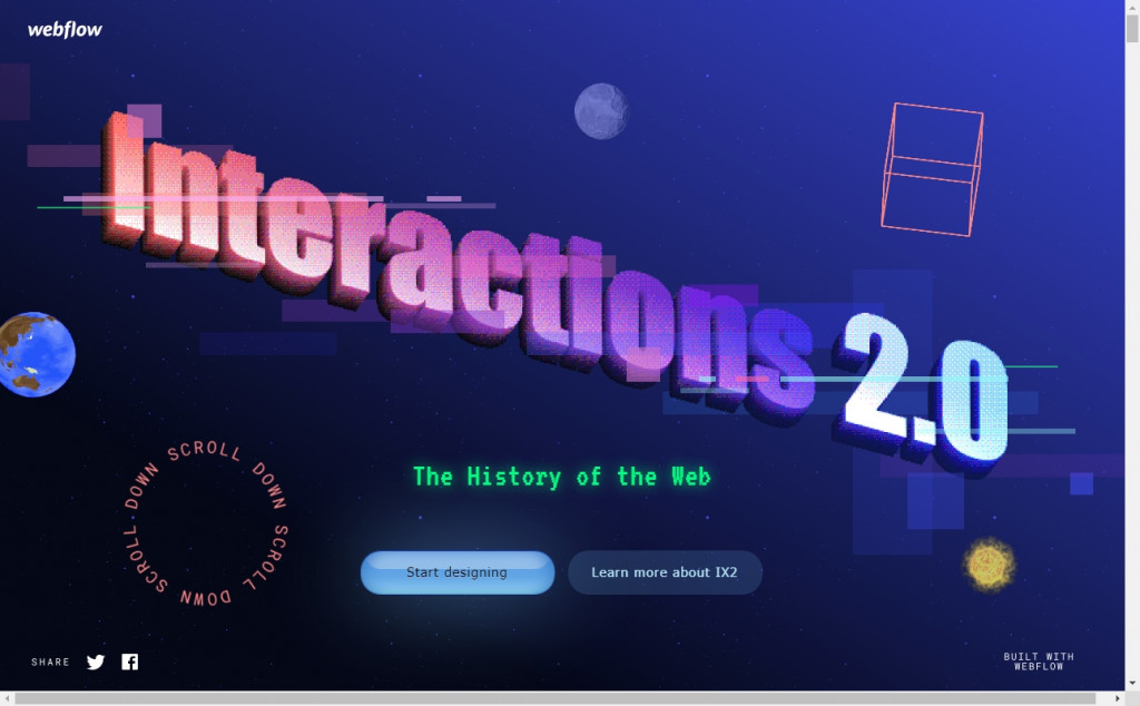Dark Blue Color Website Design Inspirations 3