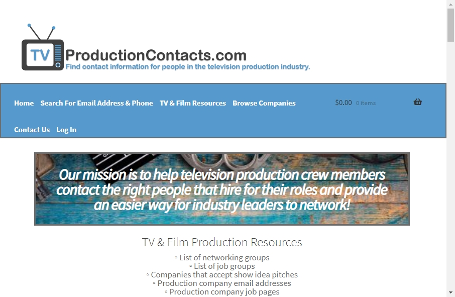 Great TV Production Website Examples 17