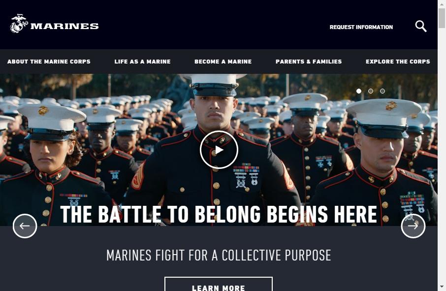 8 beautifully designed Marine website examples in 2021 17
