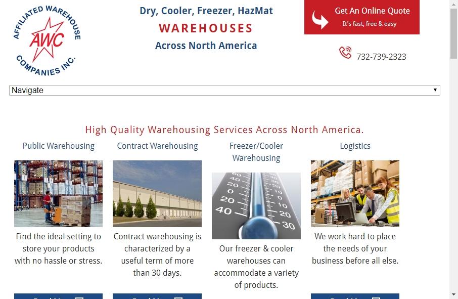 Warehousing Websites Examples 18