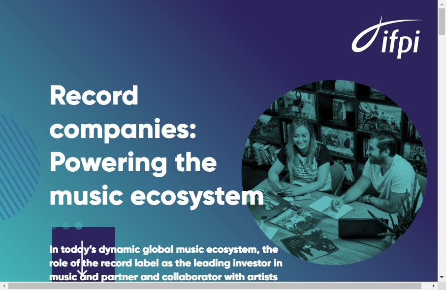 Examples of Record Company Websites With Fantastic Designs 17