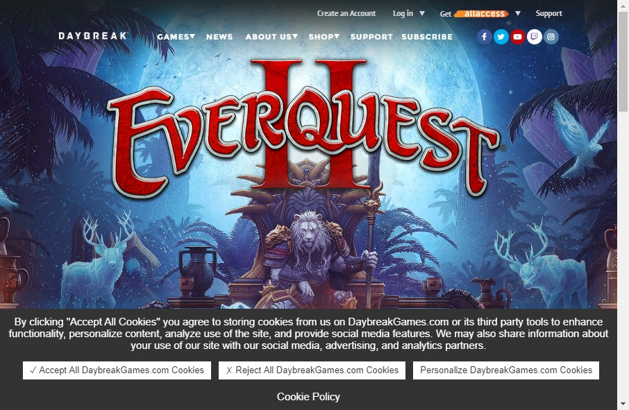 Gaming Websites Examples 25