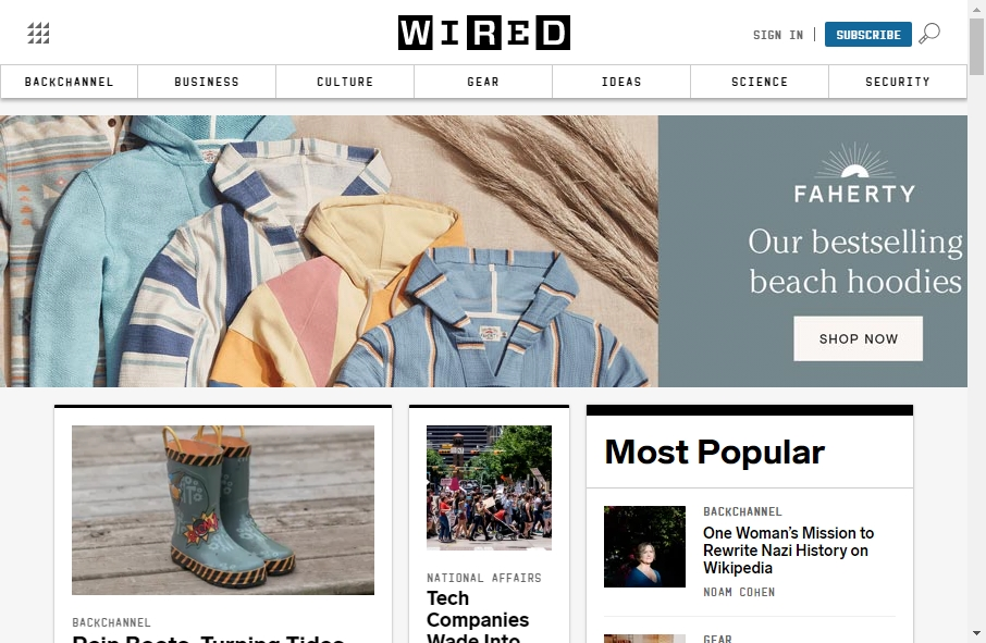 Magazine Website Design 25