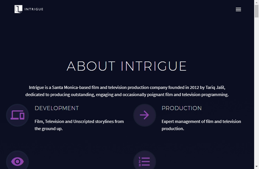 Great TV Production Website Examples 26