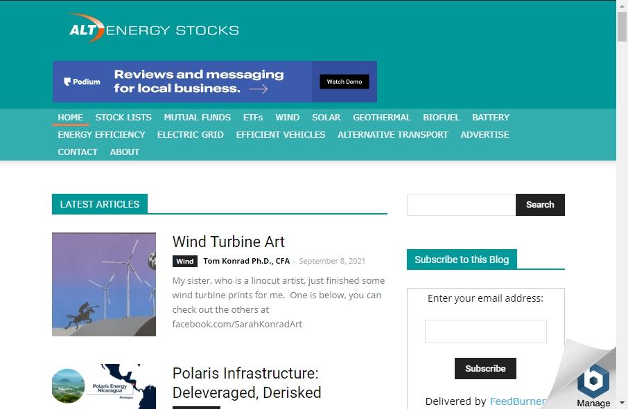 Alternative Energy Website Designs 25