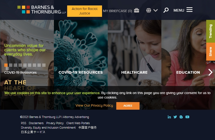 25 beautifully designed Attorneys website examples in 2021 27