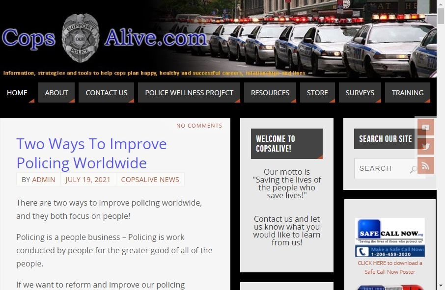 13 Examples of Inspirational Police Websites 26