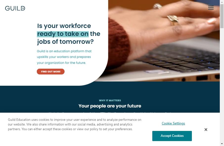 16 Amazing Educational Website Design Examples in 2021 26