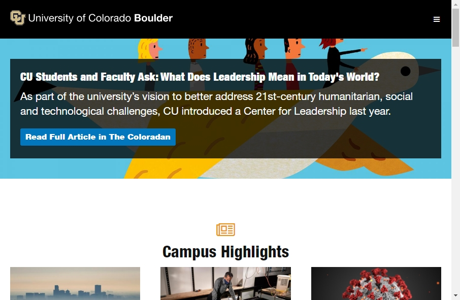 23 Examples of University Websites With Fantastic Designs 30