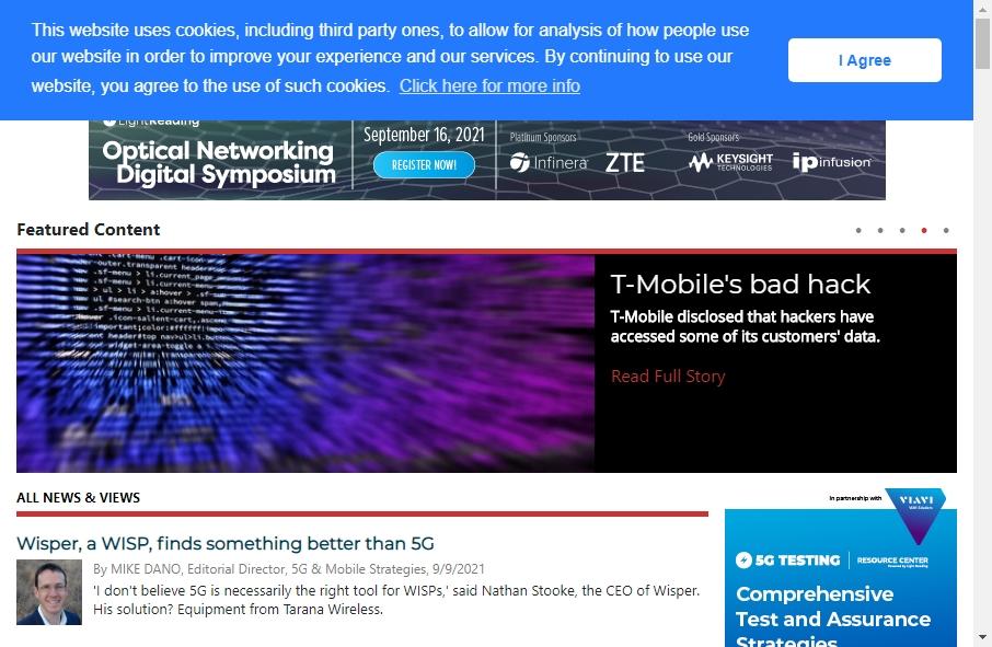 Telecom Website Design 29