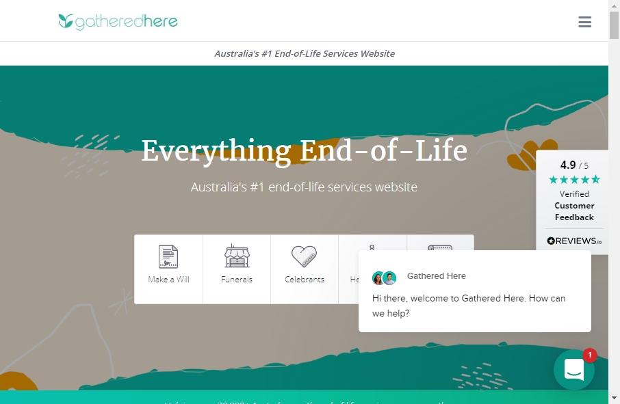 Funeral Services Website Designs 25