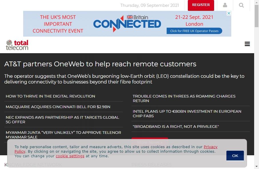Telecom Website Design 30