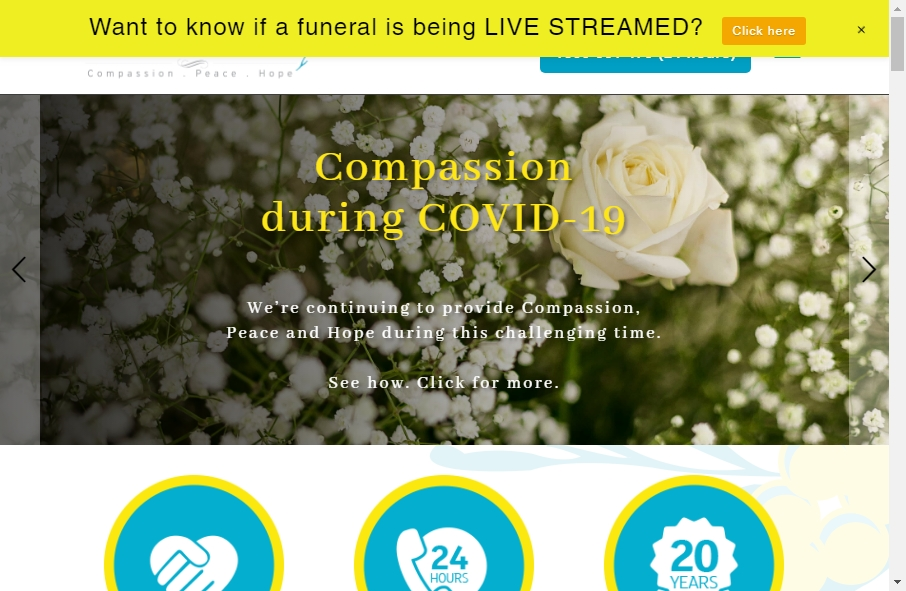 Funeral Services Website Designs 26