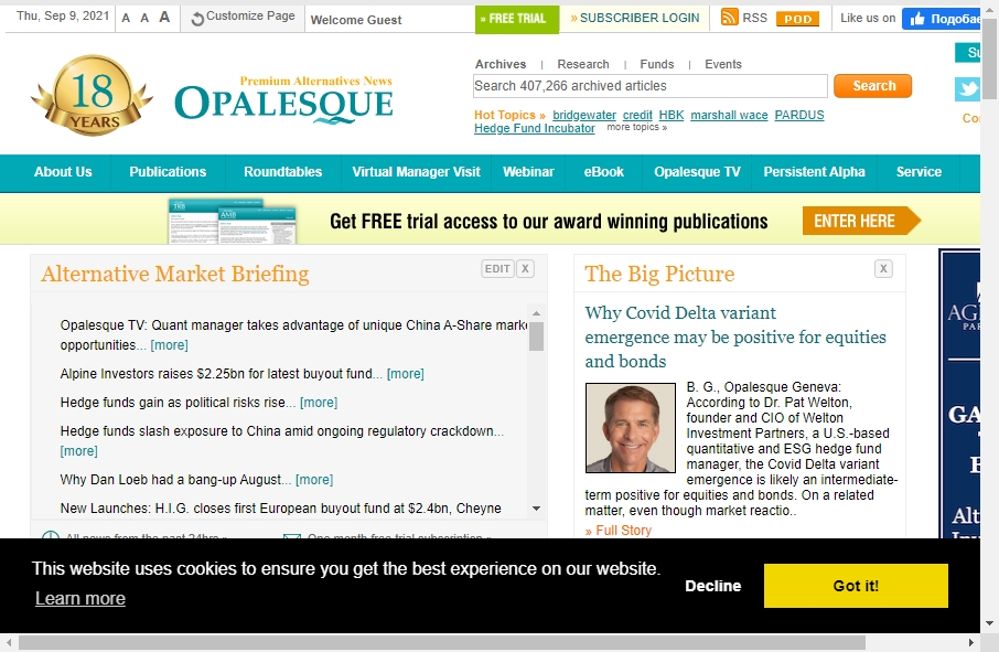 Hedge Fund Website Design 30