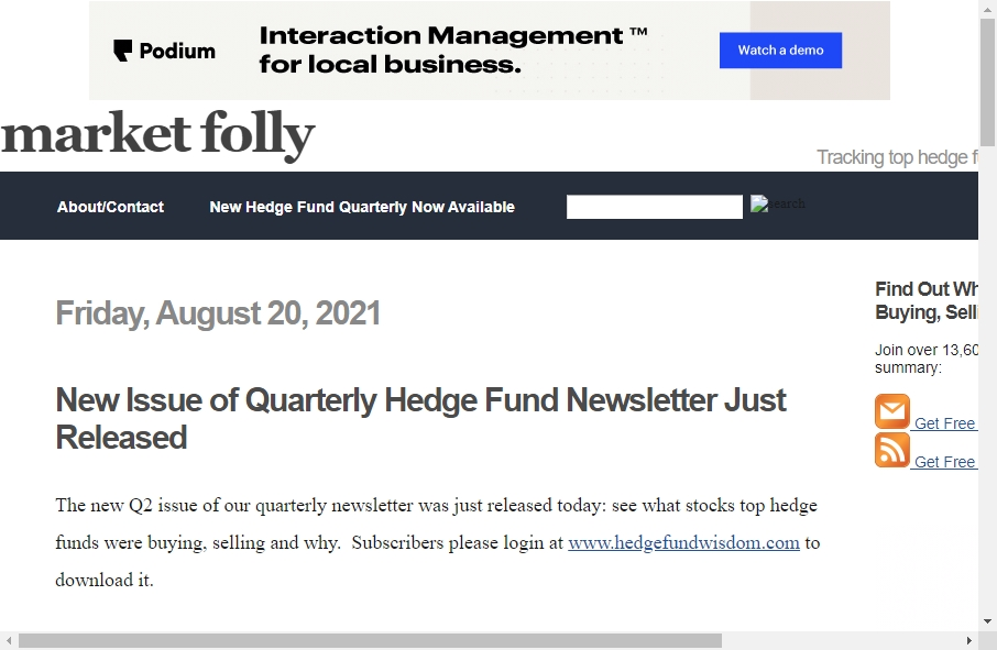 Hedge Fund Website Design 31
