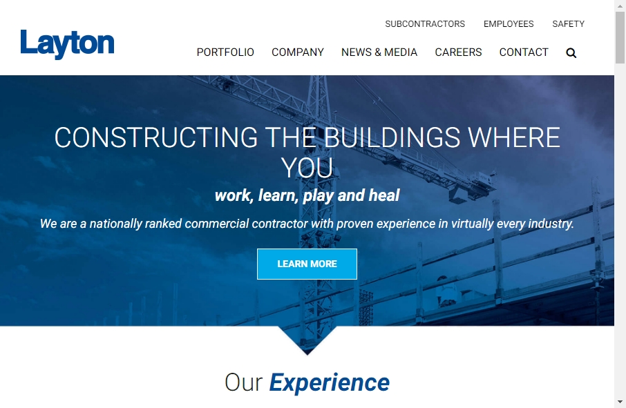 27 Examples of Construction Websites With Fantastic Designs 33