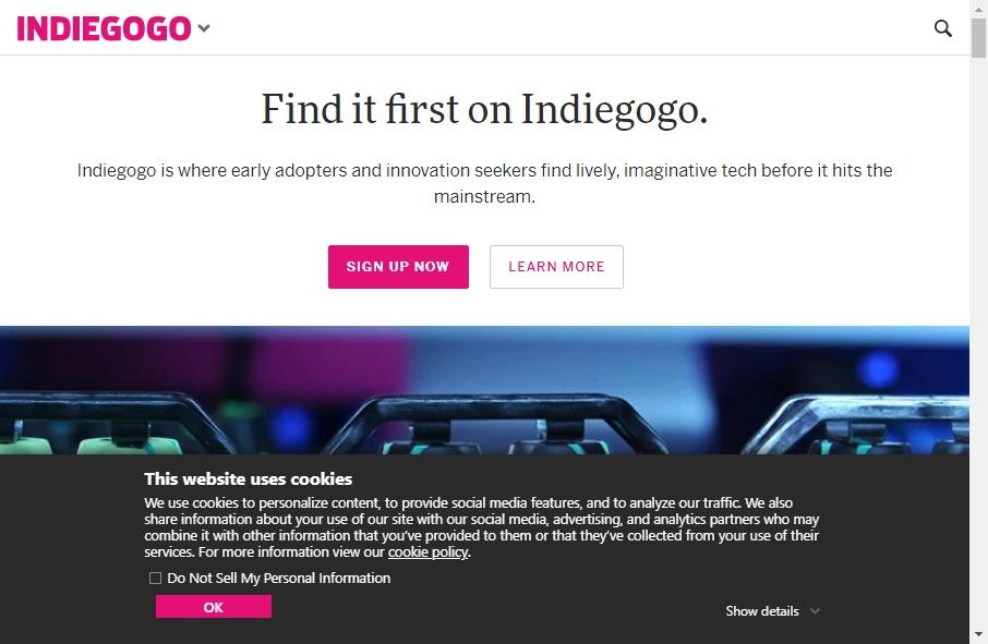 Crowdfunding Websites Examples 19