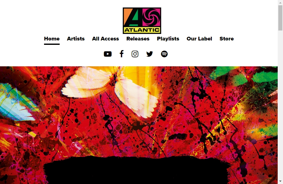 Examples of Record Company Websites With Fantastic Designs 18