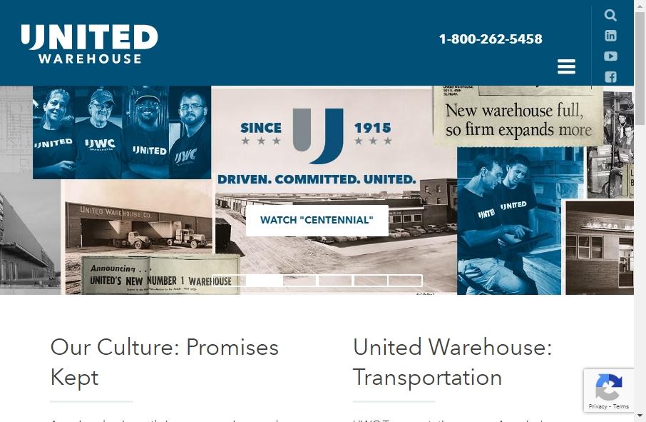 Warehousing Websites Examples 20