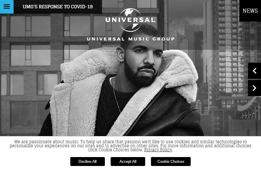Examples of Record Company Websites With Fantastic Designs 19
