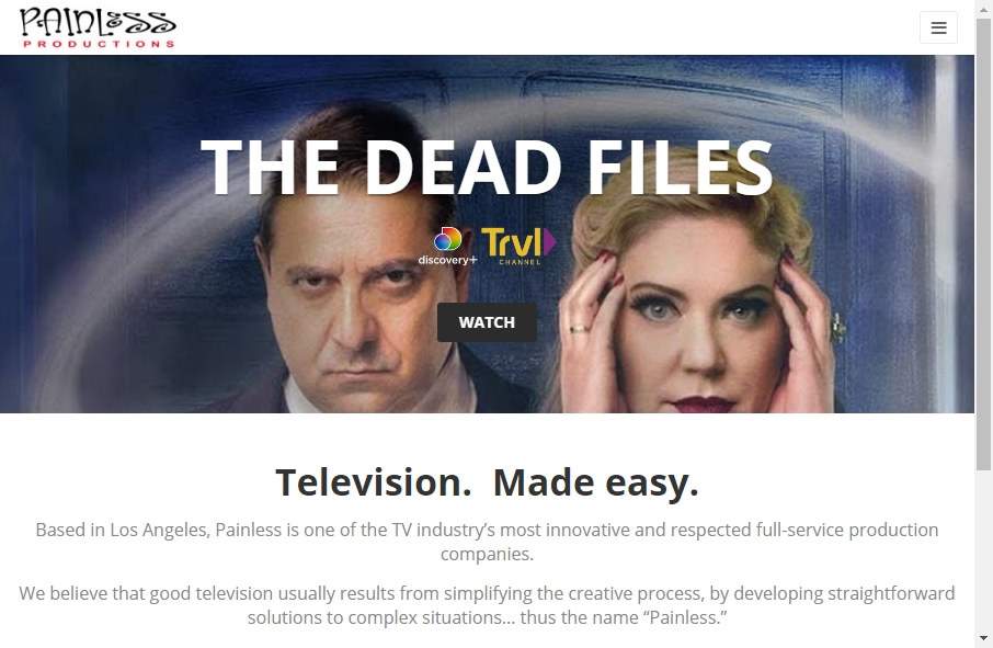 Great TV Production Website Examples 19