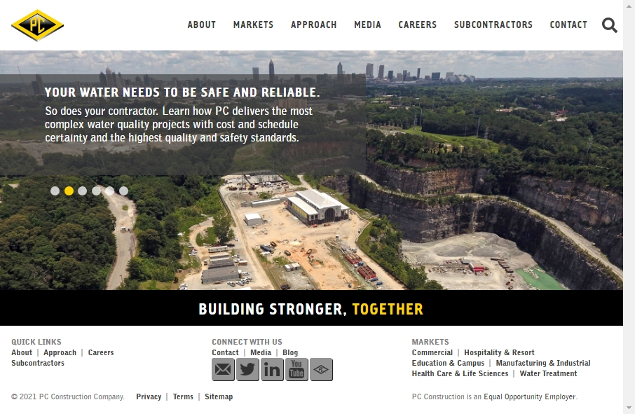 27 Examples of Construction Websites With Fantastic Designs 20