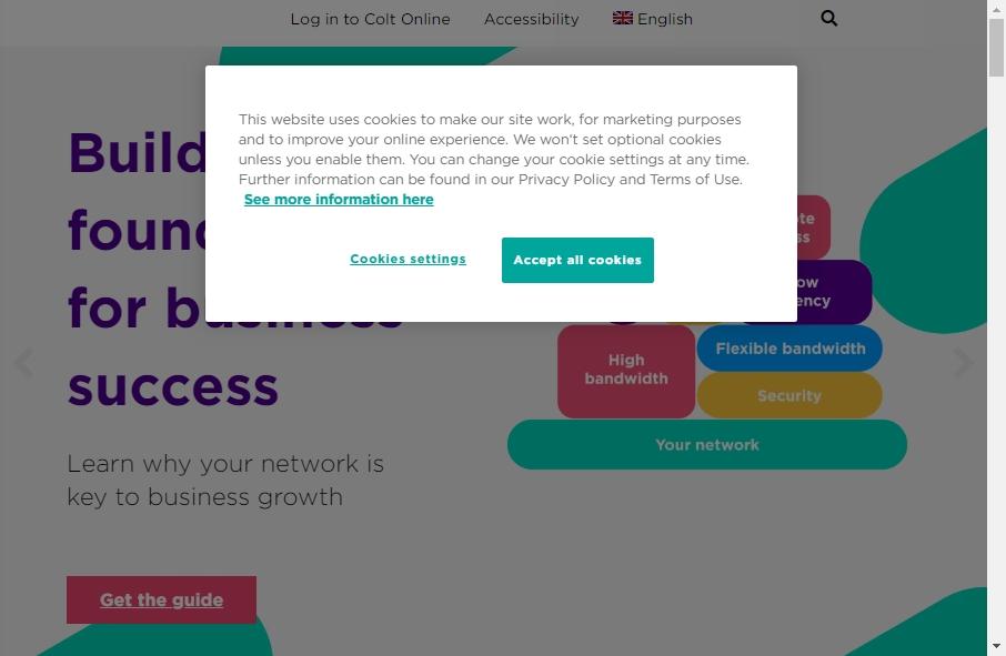 Telecom Website Design 20