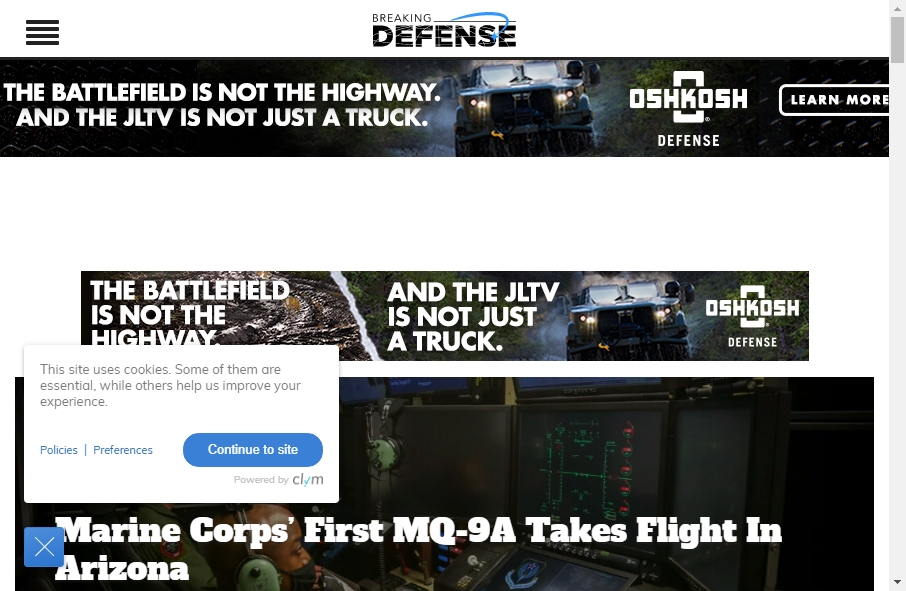 10 Examples of Inspirational Defense Websites 19