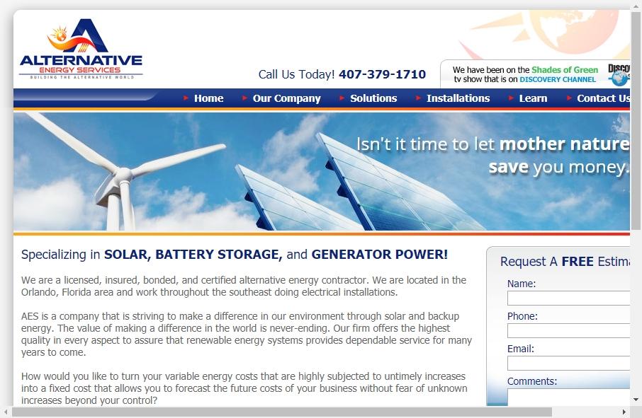 Alternative Energy Website Designs 19