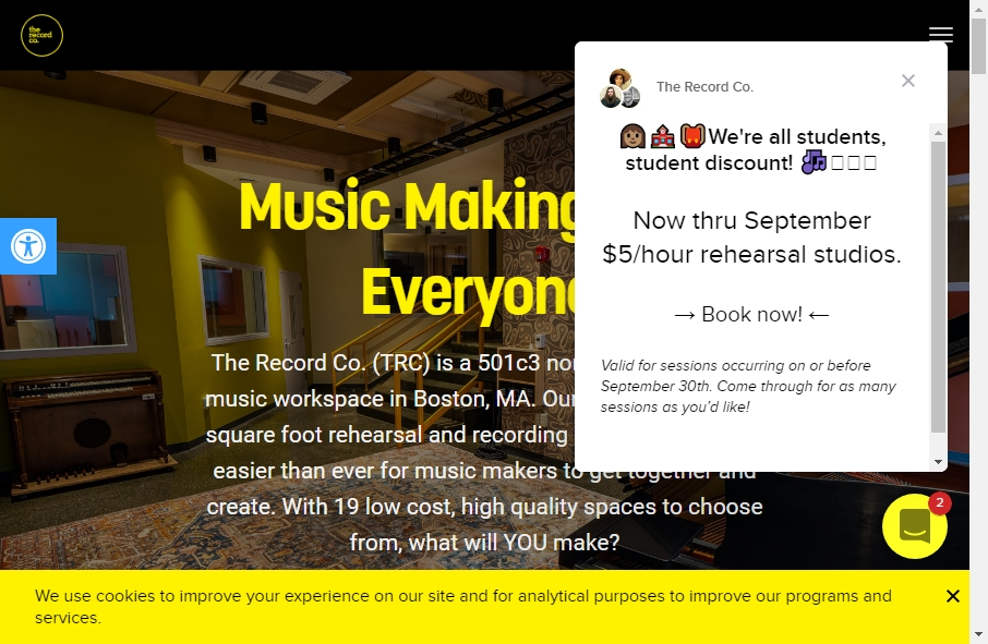 Examples of Record Company Websites With Fantastic Designs 21