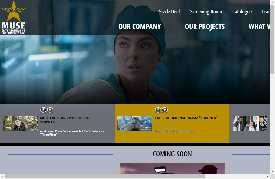 Great TV Production Website Examples 21