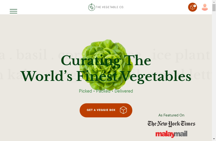 Examples of Vegetable Websites With Fantastic Designs 20