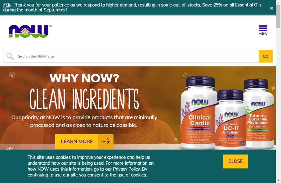 Health Product Websites Examples 23