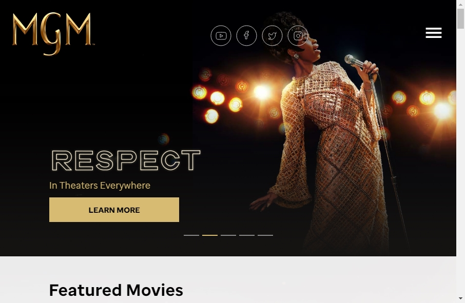 Great TV Production Website Examples 23