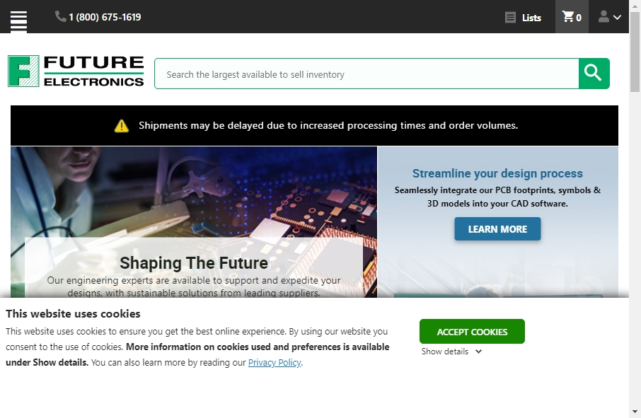 17 Great Electronics Website Examples 24