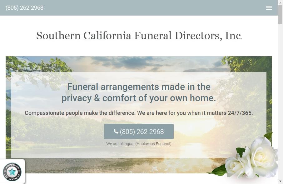 Funeral Services Website Designs 22