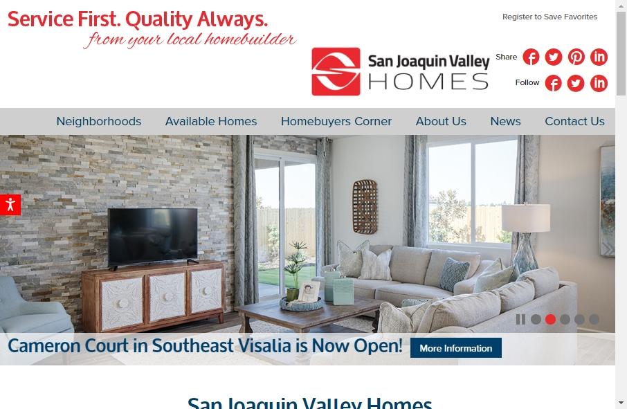 Home Builder Websites Examples 25