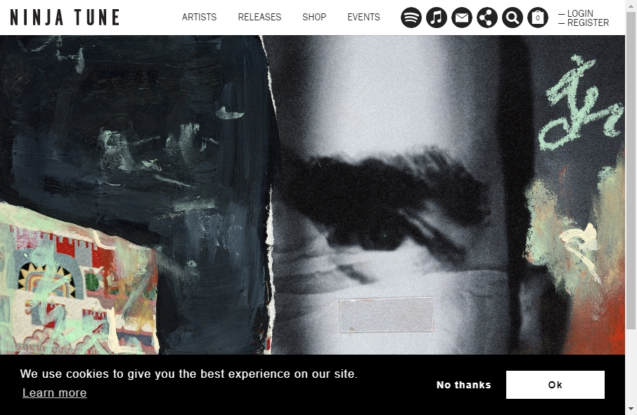 Examples of Record Company Websites With Fantastic Designs 24
